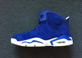 Wholesale Cheap Air Jordan 6 Retro Blue Suede True Blue/White