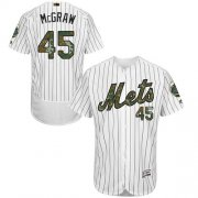 Wholesale Cheap Mets #45 Tug McGraw White(Blue Strip) Flexbase Authentic Collection Memorial Day Stitched MLB Jersey