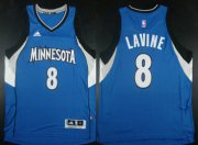Wholesale Cheap Minnesota Timberwolves #8 Zach LaVine Revolution 30 Swingman 2014 New Blue Jersey