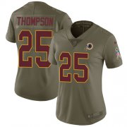 Wholesale Cheap Nike Redskins #25 Chris Thompson Olive Women's Stitched NFL Limited 2017 Salute to Service Jersey
