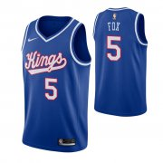 Wholesale Cheap Men's Sacramento Kings #5 De'Aaron Fox Blue 2019-20 Hardwood Classics Jersey