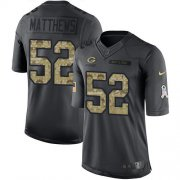 Wholesale Cheap Nike Packers #52 Clay Matthews Black Youth Stitched NFL Limited 2016 Salute to Service Jersey