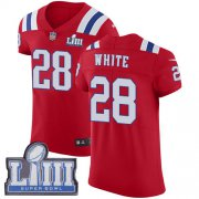 Wholesale Cheap Nike Patriots #28 James White Red Alternate Super Bowl LIII Bound Men's Stitched NFL Vapor Untouchable Elite Jersey