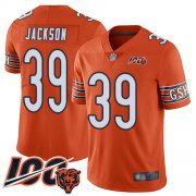 Wholesale Cheap Nike Bears #39 Eddie Jackson Orange Youth Stitched NFL Limited Rush 100th Season Jersey