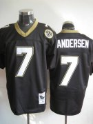 Wholesale Cheap Mitchell And Ness Saints #7 Morten Andersen Black Stitched Throwback NFL Jersey