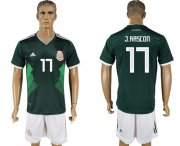 Wholesale Cheap Mexico #17 J.Rascon Green Home Soccer Country Jersey
