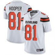 Wholesale Cheap Nike Browns #81 Austin Hooper White Youth Stitched NFL Vapor Untouchable Limited Jersey