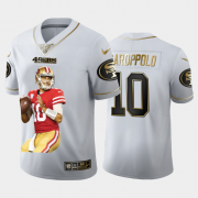 Cheap San Francisco 49ers #10 Jimmy Garoppolo Nike Team Hero 3 Vapor Limited NFL 100 Jersey White Golden