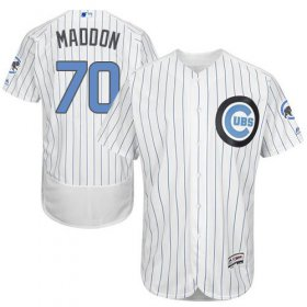 Wholesale Cheap Cubs #70 Joe Maddon White(Blue Strip) Flexbase Authentic Collection Father\'s Day Stitched MLB Jersey