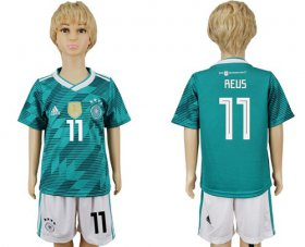 Wholesale Cheap Germany #11 Reus Away Kid Soccer Country Jersey