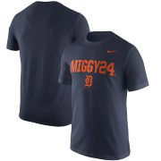 Wholesale Cheap Detroit Tigers #24 Miguel Cabrera Nike Nickname Name & Number Performance T-Shirt Navy