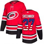 Wholesale Cheap Adidas Hurricanes #37 Andrei Svechnikov Red Home Authentic USA Flag Stitched Youth NHL Jersey