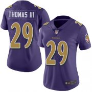 Wholesale Cheap Nike Ravens #29 Earl Thomas III Purple Women's Stitched NFL Limited Rush Jersey