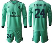 Wholesale Cheap Real Madrid #24 D.Ceballos Third Long Sleeves Soccer Club Jersey