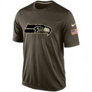 Wholesale Cheap Men's Seattle Seahawks Salute To Service Nike Dri-FIT T-Shirt
