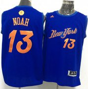 Wholesale Cheap Men's New York Knicks #13 Joakim Noah adidas Royal Blue 2016 Christmas Day Stitched NBA Swingman Jersey