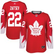 Wholesale Cheap Adidas Maple Leafs #22 Nikita Zaitsev Red Team Canada Authentic Stitched NHL Jersey
