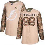 Wholesale Cheap Adidas Lightning #98 Mikhail Sergachev Camo Authentic 2017 Veterans Day Stitched Youth NHL Jersey