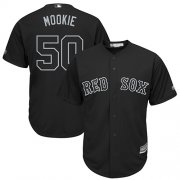"Wholesale Cheap Red Sox #50 Mookie Betts Black ""Mookie"" Players Weekend Cool Base Stitched MLB Jersey"