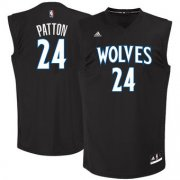 Wholesale Cheap Men's Minnesota Timberwolves #24 Justin Patton adidas Black 2017 NBA Draft Pick Replica Jersey