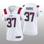 Wholesale Cheap Women's New England Patriots #37 Damien Harris White Game Jersey