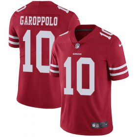 Wholesale Cheap Nike 49ers #10 Jimmy Garoppolo Red Team Color Men\'s Stitched NFL Vapor Untouchable Limited Jersey
