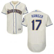 Wholesale Cheap Mariners #17 Mitch Haniger Cream Flexbase Authentic Collection Stitched MLB Jersey