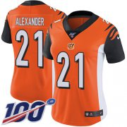 Wholesale Cheap Nike Bengals #21 Mackensie Alexander Orange Alternate Women's Stitched NFL 100th Season Vapor Untouchable Limited Jersey