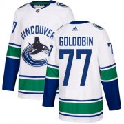 Wholesale Cheap Adidas Canucks #77 Nikolay Goldobin White Road Authentic Youth Stitched NHL Jersey