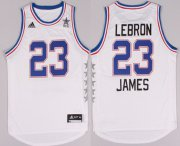 Wholesale Cheap 2015 NBA Eastern All-Stars #23 LeBron James Revolution 30 Swingman White Jersey