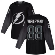 Wholesale Cheap Adidas Lightning #88 Andrei Vasilevskiy Black Alternate Authentic Stitched Youth NHL Jersey