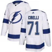 Cheap Adidas Lightning #71 Anthony Cirelli White Road Authentic Stitched NHL Jersey