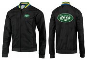 Wholesale Cheap NFL New York Jets Team Logo Jacket Black_3