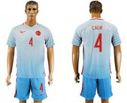 Wholesale Cheap Turkey #4 Calik Away Soccer Country Jersey