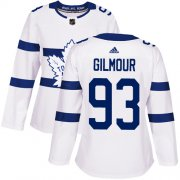 Wholesale Cheap Adidas Maple Leafs #93 Doug Gilmour White Authentic 2018 Stadium Series Women's Stitched NHL Jersey