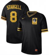 Wholesale Cheap Nike Pirates #8 Willie Stargell Black Authentic Cooperstown Collection Stitched MLB Jersey