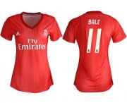 Wholesale Cheap Women's Real Madrid #11 Bale Third Soccer Club Jersey