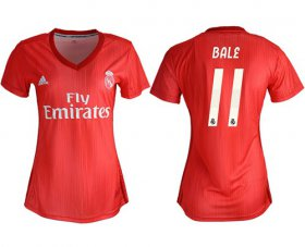 Wholesale Cheap Women\'s Real Madrid #11 Bale Third Soccer Club Jersey