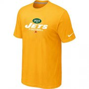 Wholesale Cheap Nike New York Jets Big & Tall Critical Victory NFL T-Shirt Yellow