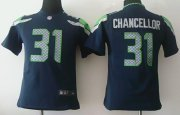 Wholesale Cheap Nike Seahawks #31 Kam Chancellor Steel Blue Team Color Youth Stitched NFL Elite Jersey