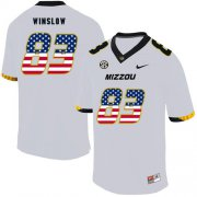 Wholesale Cheap Missouri Tigers 83 Kellen Winslow White USA Flag Nike College Football Jersey
