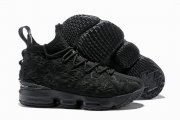Wholesale Cheap Nike Lebron James 15 Air Cushion Shoes Black Flowers and Plants