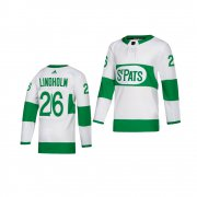 Wholesale Cheap Adidas Maple Leafs #26 Par Lindholm White 2019 St. Patrick's Day Authentic Player Stitched Youth NHL Jersey