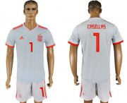 Wholesale Cheap Spain #1 Casillas Away Soccer Country Jersey