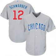 Wholesale Cheap Cubs #12 Kyle Schwarber Grey Road Stitched Youth MLB Jersey