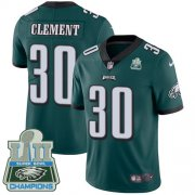 Wholesale Cheap Nike Eagles #30 Corey Clement Midnight Green Team Color Super Bowl LII Champions Men's Stitched NFL Vapor Untouchable Limited Jersey