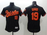 Wholesale Cheap Orioles #19 Chris Davis Black Flexbase Authentic Collection Stitched MLB Jersey
