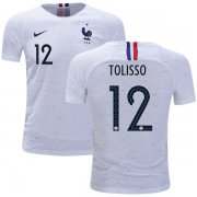 Wholesale Cheap France #12 Tolisso Away Kid Soccer Country Jersey