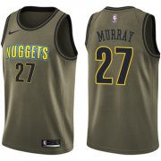 Wholesale Cheap Nike Denver Nuggets #27 Jamal Murray Green Salute to Service NBA Swingman Jersey