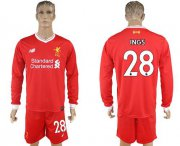 Wholesale Cheap Liverpool #28 Ings Home Long Sleeves Soccer Club Jersey